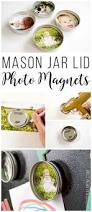 upcycled mason jar lid magnets upcycle magnets and craft