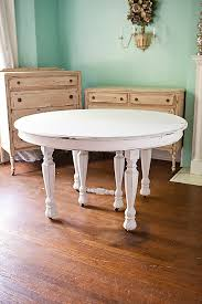 White Distressed Kitchen Table Oak Floors Of This Kitchen - Distressed white kitchen table