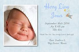 baby thank you cards 40 personalised baby thank you cards baby announcement cards