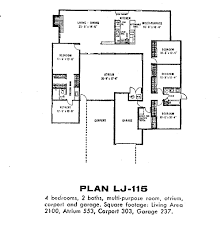 Side Garage Floor Plans by Eichler Floor Plans Fairhaven Eichlersocaleichlersocal