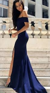 blue dress new arrival the shoulder royal blue mermaid evening