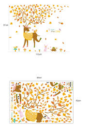 deer jungle wall sticker decals wall stickers for kids wall decals deer jungle wall sticker decals
