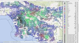 Los Angeles Zip Codes Map by Constituentmapping Ethnicity Jpg