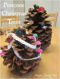 diy pinecone christmas trees frugal family tree