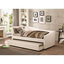 Upholstered Daybed With Trundle Coaster Daybeds By Coaster Twin Daybed With Upholstered Ivory