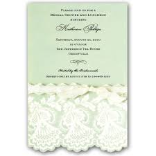 mint to be bridal shower embossed and diecut mint bridal shower invitations paperstyle