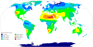 Sahara Desert On World Map by Annual Sunshine Hours Map Of The World 2753 1400 Mapporn