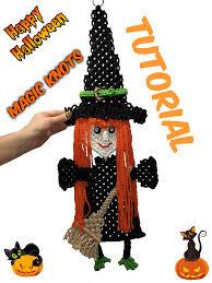halloween witch macrame tutorial part 1 youtube