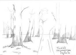 how to draw forest step by step arcmel com