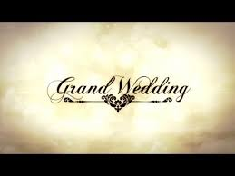 after effects wedding template grand wedding youtube