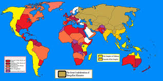 Mongol Empire Map The Mongol Menace By Goliath Maps On Deviantart