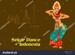 vector design woman performing sekar dance stock vector 414270847
