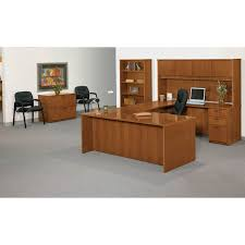 Hon Adjustable Height Desk by Basyx By Hon Black Leather Guest Chair Atwork Office Furniture
