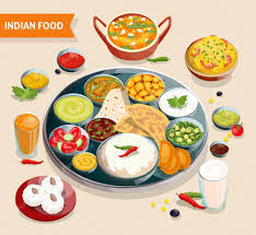 composition cuisine indian food composition stock vector macrovector 105938884