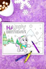 everest birthday party coloring page nickelodeon parents