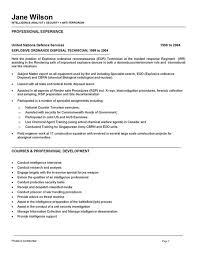 Military Civilian Resume Template Military To Civilian Resume Examples Internship Resume Builder