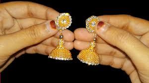how to make earrings jhumkas at home diy earrings making