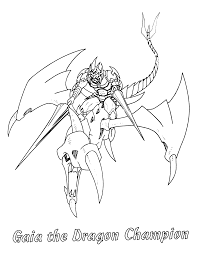 yu gi coloring pages