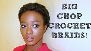big chop crochet braids protective styling with kanekalon hair