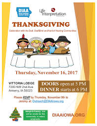 2nd thanksgiving diaa thanksgiving celebrate with the deaf deafblind and hard of