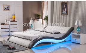 comfortable bedroom chairs c305 led light leather soft bed large king size comfortable bedroom