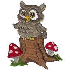 singing owl embroidery design annthegran