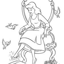 cinderella and prince charming dance in cinderella coloring page