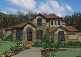 Southwest Style Home Plans Exterior Stucco Colors And Siding With Terracotta Shingle Roofs