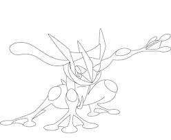 greninja coloring free printable coloring pages