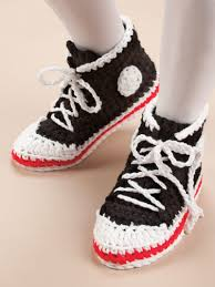 pattern crochet converse slippers craft town hobby land usa where it pays to shop with a friend