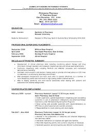 Lead Pharmacy Technician Resume Cover Letter Supply Technician Resume Sample Federal Supply