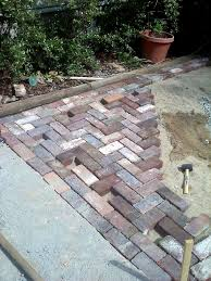 How To Lay Patio Pavers by Antique Brick Patio U2026 Done