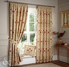 Floral Lined Curtains Nouveau Curtains Luxury Beige Lined Pencil Pleat