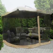 Mosquito Netting Patio 9 9 Square Feet 79quot H Patio Umbrella Mosquito Net Gazebo Top