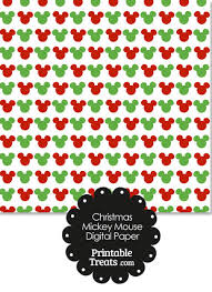 mickey mouse christmas wrapping paper mickey mouse christmas digital scrapbook paper printable treats