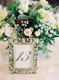 Table Number In Silver Frame Elizabeth Anne Designs The Wedding Blog