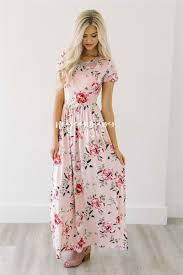 blush maxi dress blush pink peony floral maxi modest dress best and affordable
