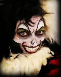 halloween cruella deville face painting by terri connolly