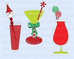 blue martini clip art christmas clipart drink clipart digital christmas invitation clip