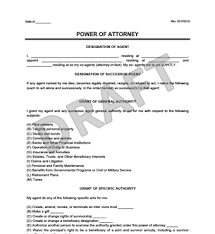 power of attorney form poa create a durable power of attorney