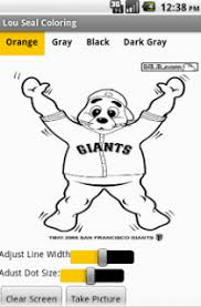 san francisco giants coloring pages lou seal coloring page fonzi garcia u0027s app inventor site
