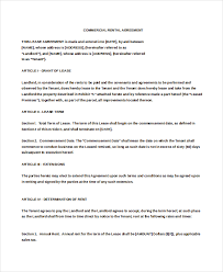 sample commercial rental agreement printable sample commercial