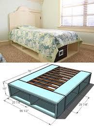 Diy Platform Bed Top Diy Platform Beds Trends Including Stunning Bed With Storage