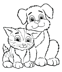 Coloring Pages Of Puppys More Images Of Kittens And Puppies Puppy Color Pages