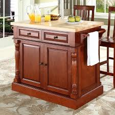 kitchen island butcher block top darby home co lewistown kitchen island set with butcher block top