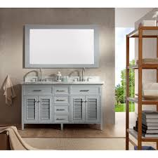 Double Sink Vanity Top 61 Ariel Bath D061d Gry Kensington 61 Double Sink Vanity Set In Grey