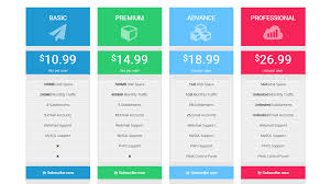 notoiety bootstrap pricing table by themedrop codecanyon