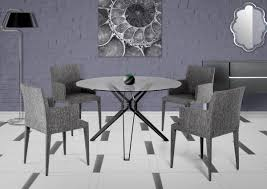 Modern Glass Round Dining Table Revamp The Look Of Your Dining Room With Modern Dining Room