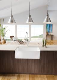 kitchen sinks and faucets decorating rectangle apron sink plus silver faucet on cream