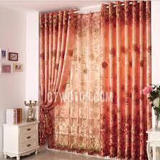 Pink And Orange Curtains Polyester Room Darkening Bedroom Burnt Orange Curtains